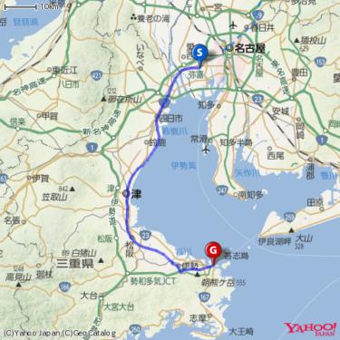 名古屋から鳥羽までチャリンコツーリング 2016.7.2